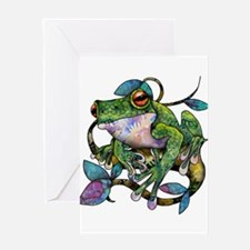 Wild Frog Greeting Card