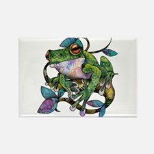 Wild Frog Rectangle Magnet