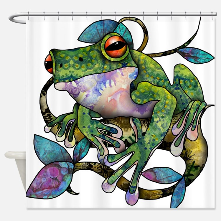 Tree Frog Shower Curtains