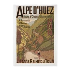 Alpe D' Huez, Bicycle, Vintage 5'x7'area Rug