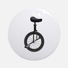 Unicycle Ornament (Round)