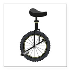 """Unicycle Square Car Magnet 3"""" x 3"""""""