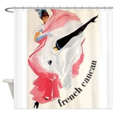 French Cancan Dance, Vintage Poster Shower Curtain