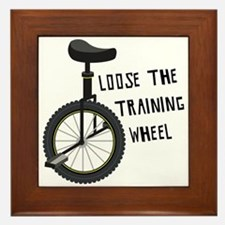Loose The Training Wheel Framed Tile