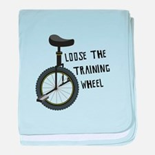 Loose The Training Wheel baby blanket
