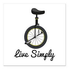 "Live Simply Square Car Magnet 3"" x 3"""