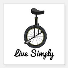 "Live Simply Square Car Magnet 3"" x 3"""