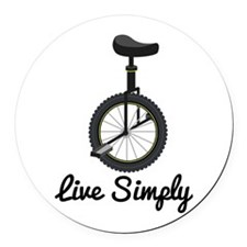 Live Simply Round Car Magnet