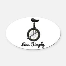 Live Simply Oval Car Magnet