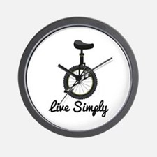 Live Simply Wall Clock