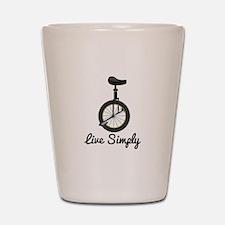 Live Simply Shot Glass