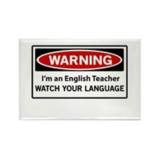 Warning English teacher Magnets