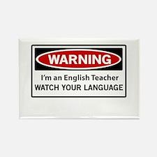 Warning English teacher Magnets