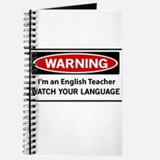 Warning English teacher Journal