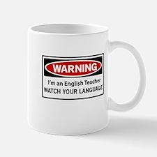 Warning English teacher Mugs