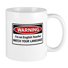 Warning English teacher Mugs
