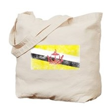Vintage Brunei Flag Tote Bag