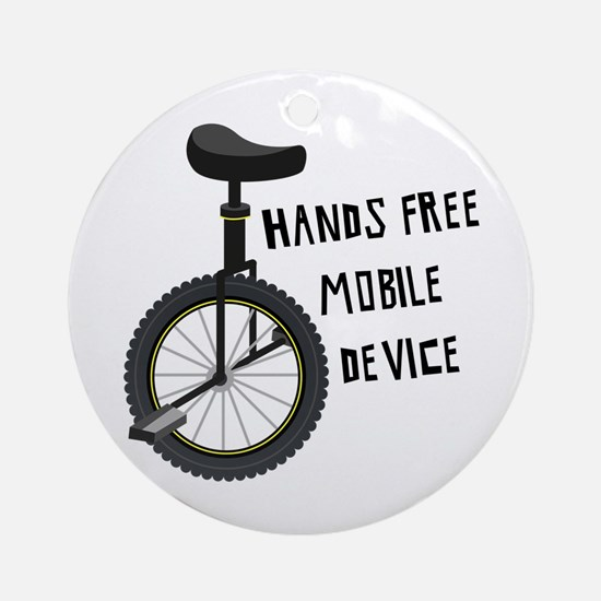 Hands Free Mobile Device Ornament (Round)