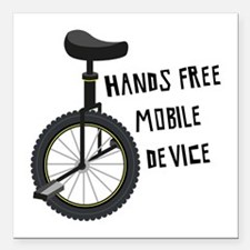 "Hands Free Mobile Device Square Car Magnet 3"" x 3"""