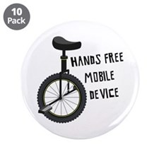 "Hands Free Mobile Device 3.5"" Button (10 pack)"