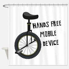 Hands Free Mobile Device Shower Curtain