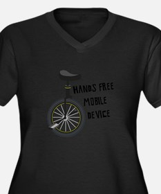 Hands Free Mobile Device Plus Size T-Shirt