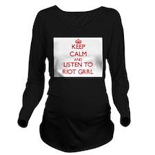 Riot grrl Long Sleeve Maternity T-Shirt