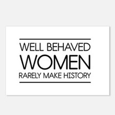 Well behaved women 2 Postcards (Package of 8)