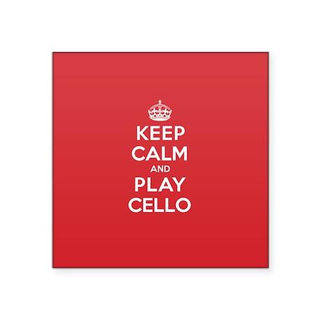 Keep Calm Play Cello Sticker