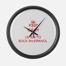 Unique Espanol Large Wall Clock