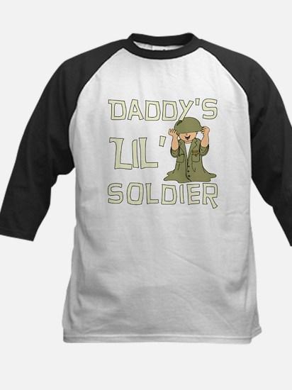 Daddy's Lil' Soldier Kids Baseball Jersey