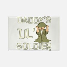 Daddy's Lil' Soldier Rectangle Magnet