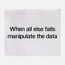 Manipulate the data Throw Blanket