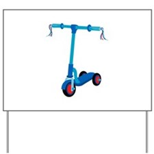 Blue Scooter Yard Sign