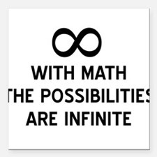 "Math infinite possibilities Square Car Magnet 3"" x"