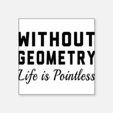 Without geometry pointless Sticker