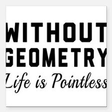 """Without geometry pointless Square Car Magnet 3"""" x"""