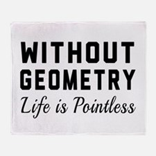 Without geometry pointless Throw Blanket