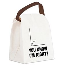 You know i'm right Canvas Lunch Bag