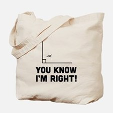 You know i'm right Tote Bag