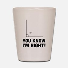 You know i'm right Shot Glass