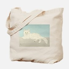 White Cat; Vintage Art Foujita Tote Bag