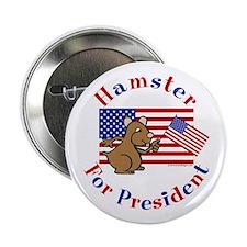 Hamster for President Button