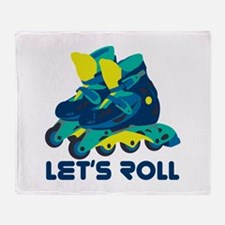 Let's Roll Throw Blanket