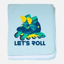 Let's Roll baby blanket