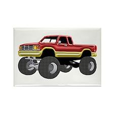 Marvelous Monster Truck Red & Gold Magnets