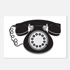 Retro Telephone Postcards (Package of 8)