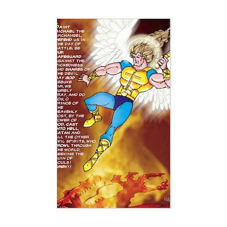 Prayer of St. Michael 3 x 5 Sticker