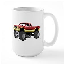Marvelous Monster Truck Red & Gold Mugs