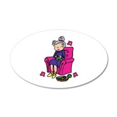 Knitting Grandma Wall Decal